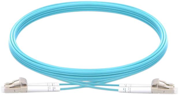 Vision TC 1MFBR LCLC fibre optic cable 1 m LC LSZH OM3 Blue
