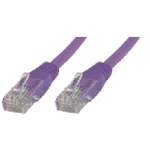 Microconnect 0.3m Cat6 RJ-45 networking cable Purple U/UTP (UTP)