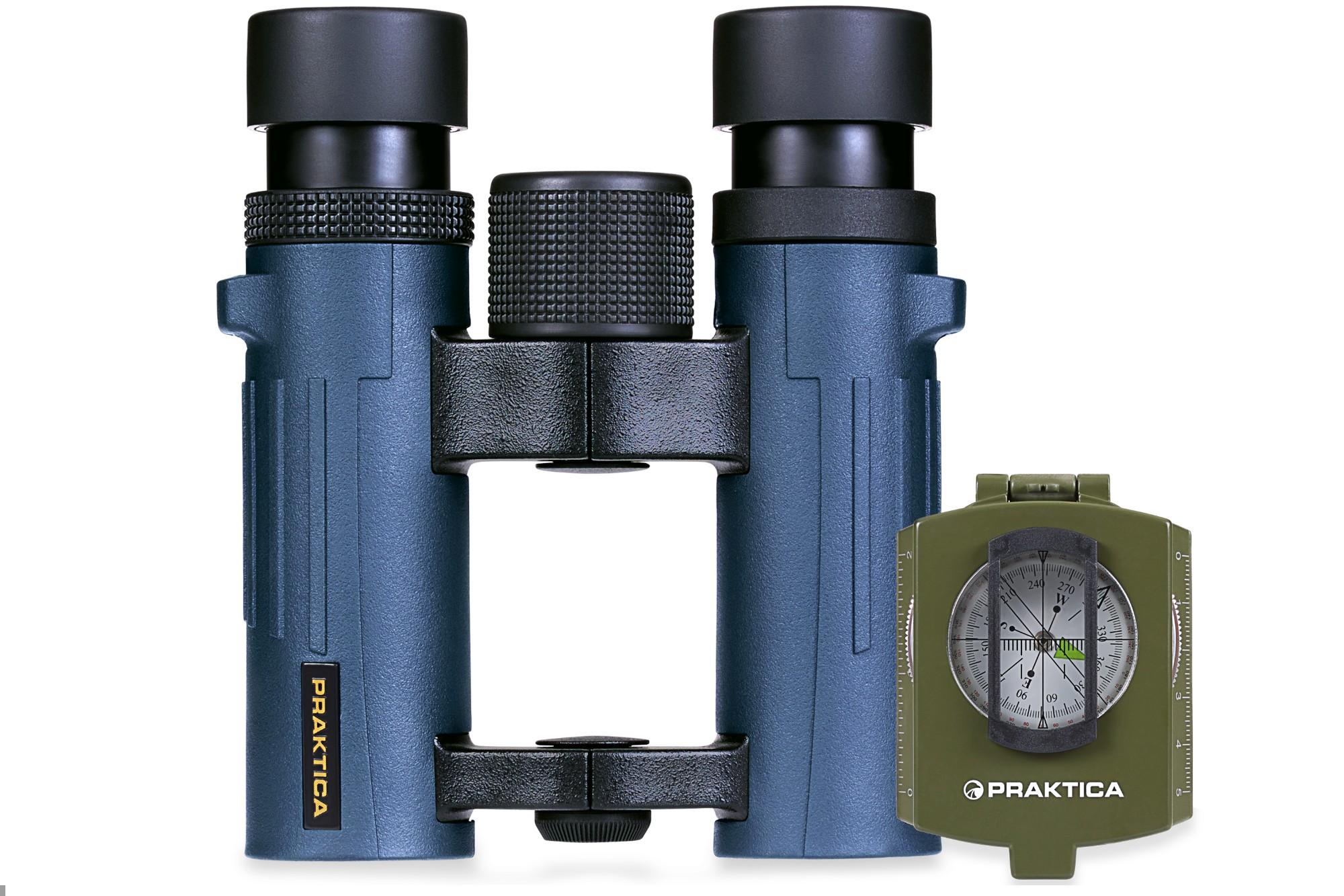 Pioneer 10x26mm Blue Waterproof Roof Prism  Binoculars + FREE COMPASS