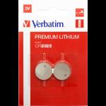 Verbatim CR2025 3V Lithuim Battery (2 pack)