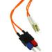 C2G 3m LC/SC Duplex 62.5/125 Multimode Fiber Patch Cable / Clips - Orange 3m LC SC Orange fiber optic cable