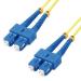 MCL 3m SC/SC OS2 cable de fibra optica Yellow,Blue