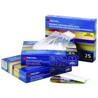 REXEL AS100 PLASTIC WASTE BAGS FOR SMALL OFFICE SHREDDERS 40L (100)
