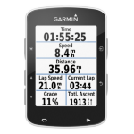 "Garmin Edge 520 Handheld 2.3"" LCD 59.9g Black navigator"