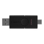 Kingston Technology DataTraveler Duo USB flash drive 64 GB USB Type-A / USB Type-C 3.2 Gen 1 (3.1 Gen 1) Black