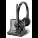 POLY Savi W8220/A, UC Auriculares Diadema Negro