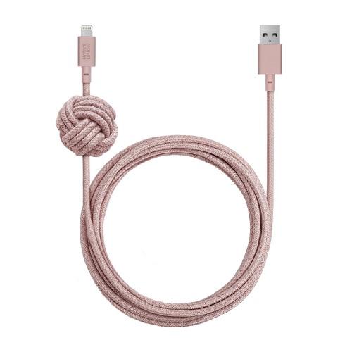 Native Union NCABLE-KV-L-ROSE lightning cable 3 m Pink