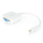 C2G 20cm Mini DisplayPort M / VGA F Mini DisplayPort M HD15 F White cable interface/gender adapter