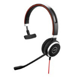 Jabra EVOLVE 40 Monaural Head-band Black, Silver headset