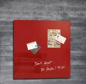 Sigel GL114 magnetic board Glass Red
