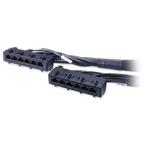 Data Distribution Cable - CAT6 - UTP - CMR - 6xRJ-45 - 5m - Black