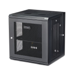 "StarTech.com 12U 19"" Wall Mount Network Cabinet - 16"" Deep Hinged Locking IT Network Switch Depth Enclosure - Vented Computer Equipment Data Rack w/Shelf & Flexible Side Panels - Assembled"