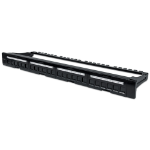 Intellinet Patch Panel, Blank, 1U, 24-Port, Black