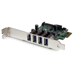 StarTech.com 4 Port PCI Express PCIe SuperSpeed USB 3.0 Controller Card Adapter with UASP - SATA Power interface cards/adapter
