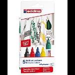 Edding 4500 marker 5 pc(s) Multicolour Brush tip