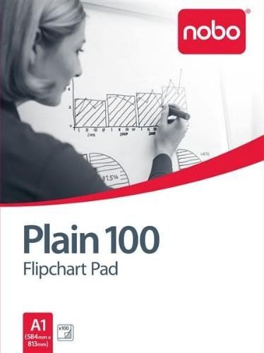 Nobo Flipchart Pad Plain 100 Sheets ( A1)