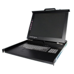 "StarTech.com 1U DuraView 19"" Folding LCD Rack Console Black KVM switch"