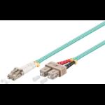 Microconnect FIB422003-3DC 3m LC SC Turquoise fiber optic cable