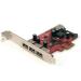 StarTech.com 4 Port SuperSpeed USB 3.0 PCI Express Card with UASP - SATA Power