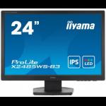 "iiyama ProLite X2485WS-B3 24.1"" Full HD IPS Matt Black LED display"