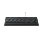 Logitech K280e keyboard USB QWERTZ Swiss Black