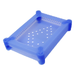 LogiLink UA0135 storage drive case Silicone Blue