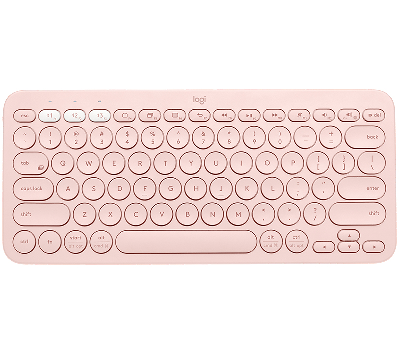 Logitech K380 keyboard Bluetooth QZERTY UK English Rose