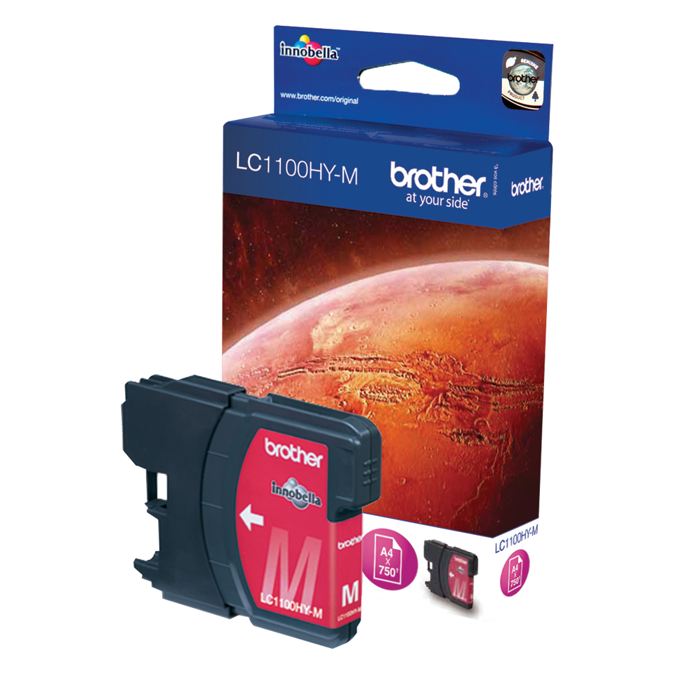 Brother LC-1100HYM Ink Cartridge Original magenta 1 pieza(s)