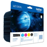 Brother High Yield Ink Cartridge Pack: Cyan / Magenta / Yellow / Black LC1280XLVALBP