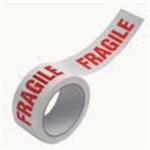FSMISC VINYL TAPE FRAGILE WHITE/RED 50MMX6