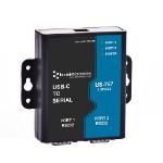 Brainboxes US-757 cable gender changer RS232 USB-C Black, Blue