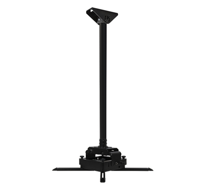 B-Tech Fixed Drop Heavy Duty Projector Ceiling Mount with Micro-Adjustment