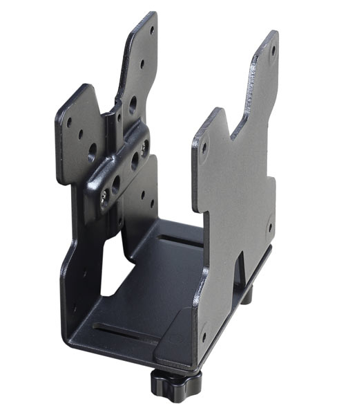 Ergotron 80-107-200 Desk-mounted CPU holder Black CPU holder