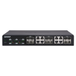 QNAP QSW-1208-8C network switch Unmanaged None Black