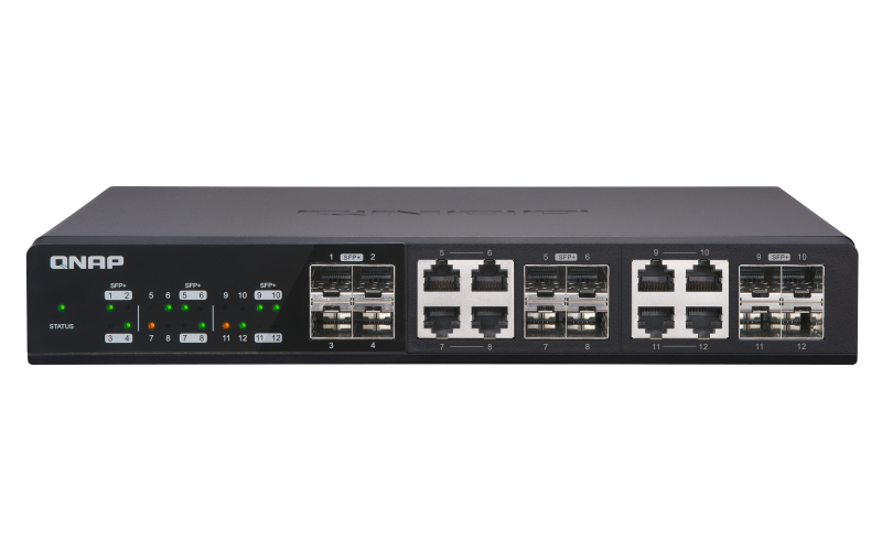 QNAP QSW-1208-8C switch No administrado None Negro
