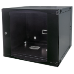 "Intellinet 19"" Double Section Wallmount Cabinet, 12U, 600mm depth, Flatpack, Black"