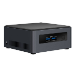 Intel NUC BLKNUC7I7DNH3E PC/workstation barebone i7-8650U 1.9 GHz UCFF Black, Grey BGA 1356