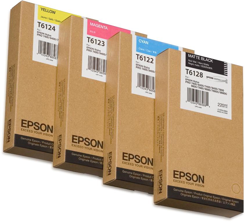 Epson Cartucho T612200 cian