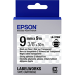 Epson C53S653006 (LK-3TBW) Ribbon, 9mm x 9m
