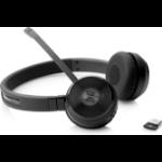 HP UC Wireless Duo Kopfhörer Kopfband Schwarz