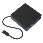 Targus USB-C TRAVEL DOCK WITH POWER PASS-THROUGH BLACK interface hub
