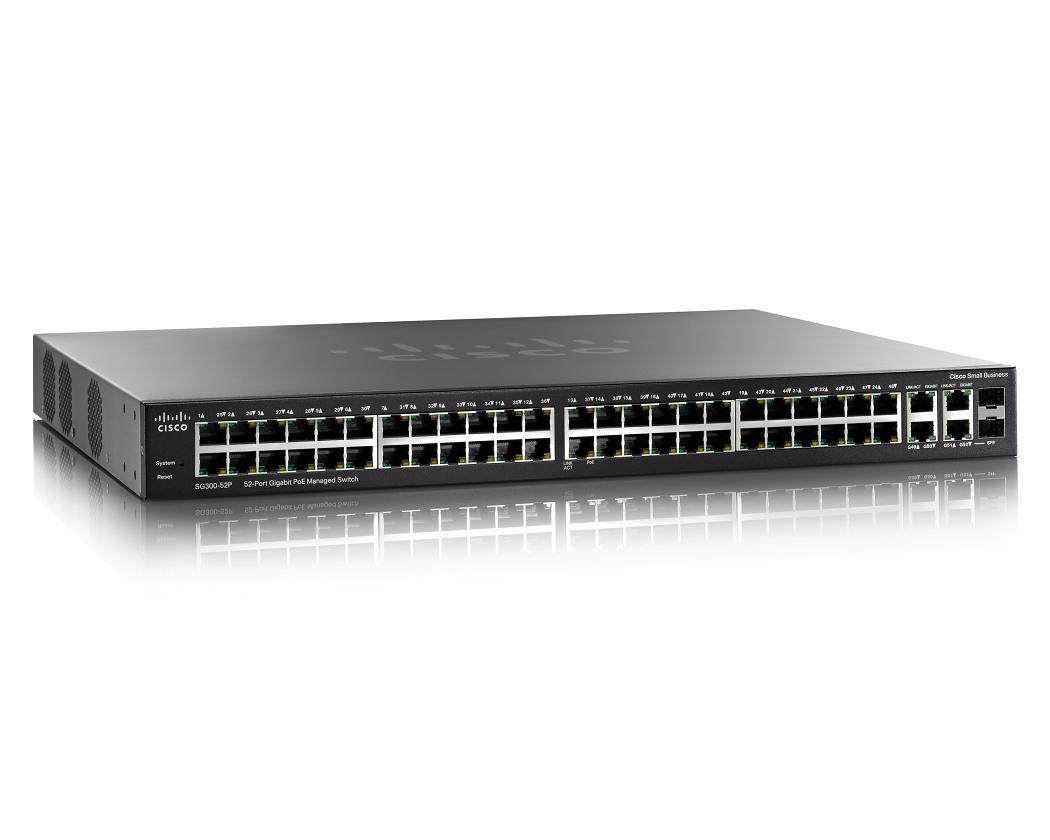 Cisco Small Business SG300-52MP Managed L3 Gigabit Ethernet (10/100/1000) Power over Ethernet (PoE) Black