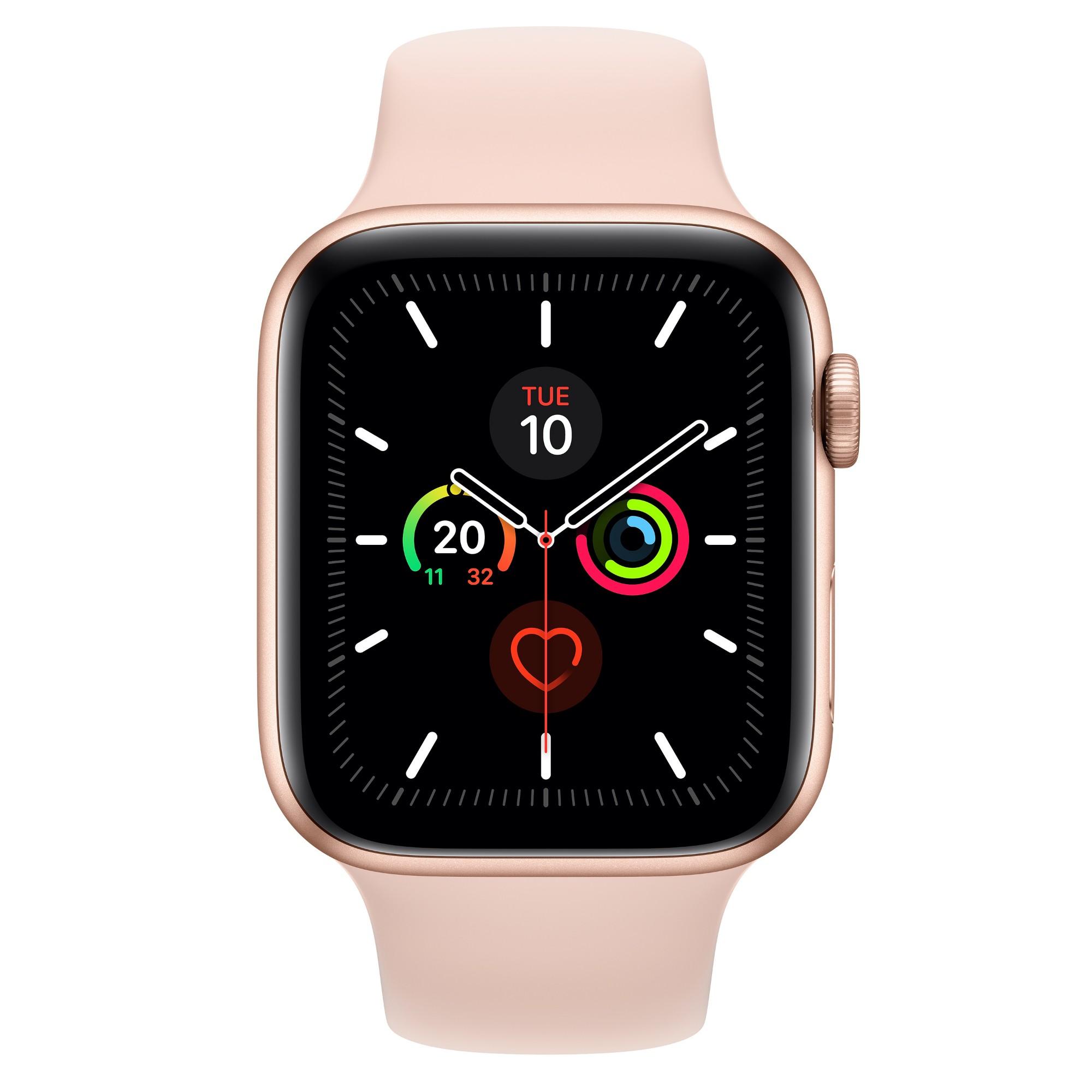 Apple Watch Series 5 smartwatch Gold OLED Cellular GPS satellite