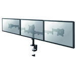 "Newstar NM-D135D3BLACK 27"" Clamp/Bolt-through Black flat panel desk mount"