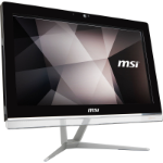 "MSI Pro 20EXTS 8GL-051XE 49.5 cm (19.5"") 1600 x 900 pixels Touchscreen Intel® Celeron® 8 GB DDR4-SDRAM 256 GB SSD Wi-Fi 5 (802.11ac) Black,White All-in-One PC"
