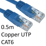 TARGET RJ45 (M) to RJ45 (M) CAT6 0.5m Blue OEM Moulded Boot Copper UTP Network Cable