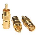 Lindy BNC Female -> Phono Male Adapter (3 Pack) wire connector Gold