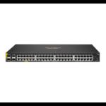 Hewlett Packard Enterprise Aruba 6100 48G Class4 PoE 4SFP+ 370W Managed L3 Gigabit Ethernet (10/100/1000) Power over Ethernet (PoE) 1U Black
