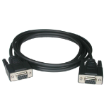 C2G 2m DB9 F/F Null Modem Cable - Black serial cable