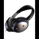 Creative Labs 51EF054000000 mobile headset Binaural Head-band Black,Blue Wired